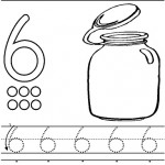 number six 6 tracing and coloring worksheets  (7)