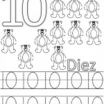 number ten 10 coloring and tracing worksheets  (2)