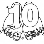 number ten 10 coloring and tracing worksheets  (3)