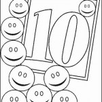 number ten 10 coloring and tracing worksheets  (7)