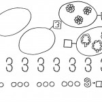 number three coloring and tracing worksheets (23)