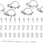 number three coloring and tracing worksheets (31)
