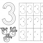 number three coloring and tracing worksheets (35)