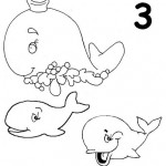 number three coloring and tracing worksheets (9)