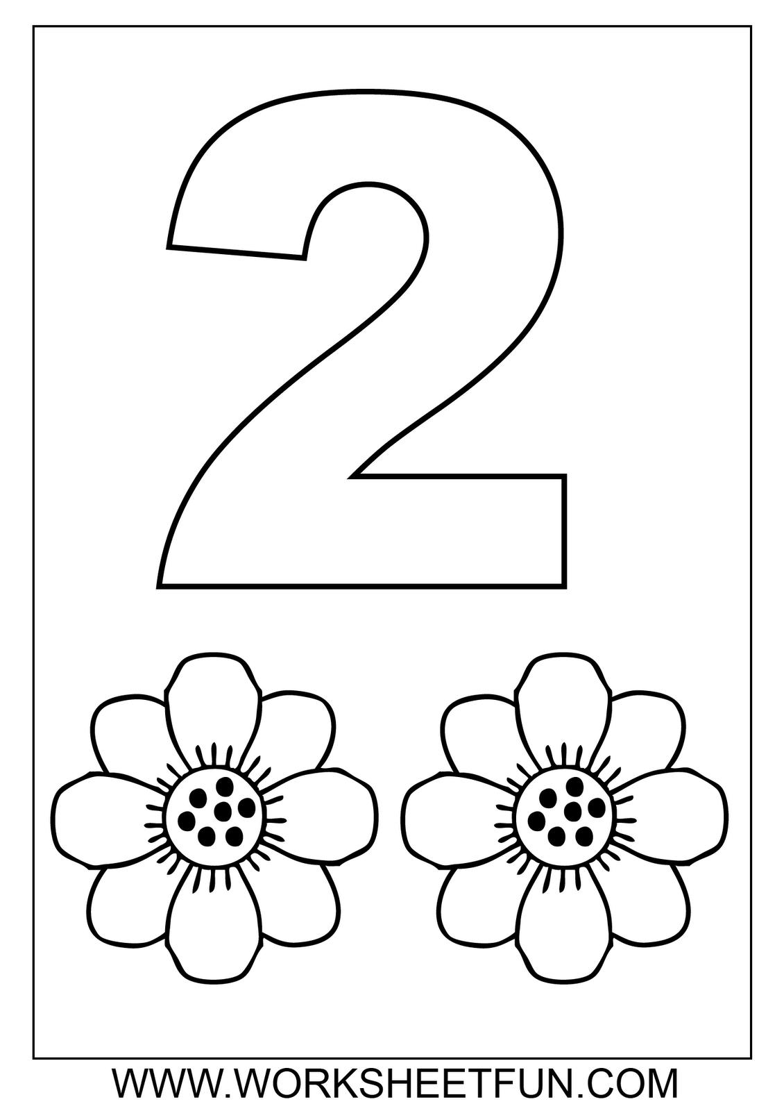 2 Worksheet For Kindergarten