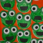 papaer plate frog craft