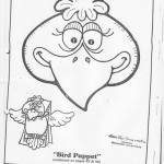 paper bag  bird craft pattern