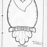 paper bag  bird craft pattern 3