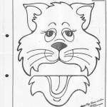 paper bag  cat craft pattern