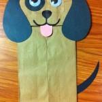 paper bag dog craft