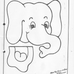 paper bag elephant craft pattern