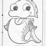 paper bag fish craft pattern