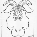 paper bag  goat craft pattern
