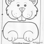 paper bag  groundhog craft pattern