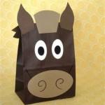 paper bag horse craft