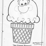 paper bag icecream craft pattern