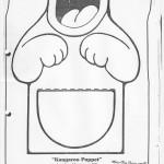 paper bag  kangaroo craft pattern 1