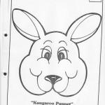 paper bag  kangaroo craft pattern