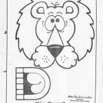 paper bag  lion  craft pattern