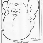 paper bag monkey craft pattern