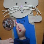 paper bag mouse craft