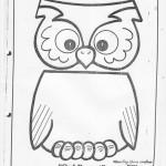 paper bag owl craft pattern
