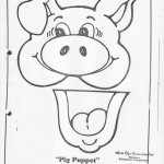 paper bag pig craft pattern