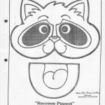 paper bag  raccoon craft pattern