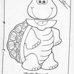 paper bag  turtle craft pattern