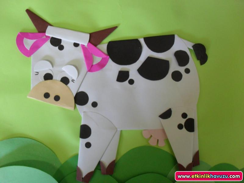 paper cow crafts