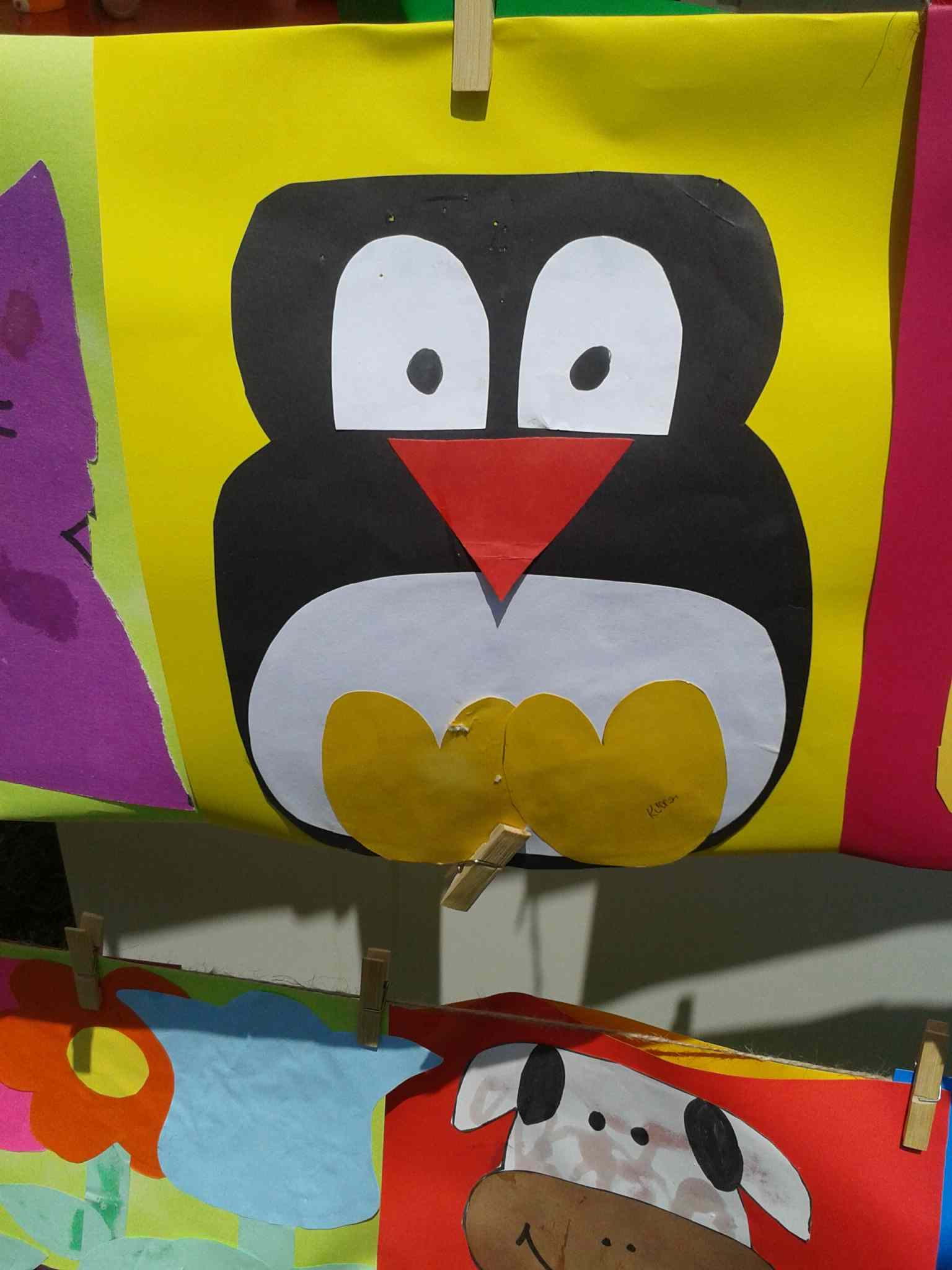 paper craft penguin