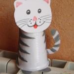 paper cup cat craft