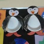 paper plate penguin craft