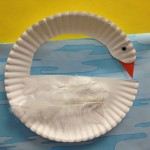 paper plate swan craft for preschoolers