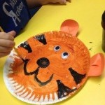 paper plate tigers