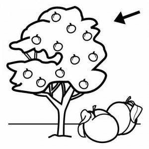peach_tree_coloring_page