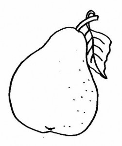pear coloring pages