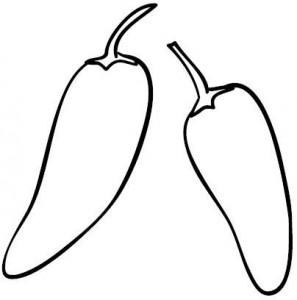 pepper coloring