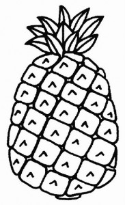 pineaplle coloring page