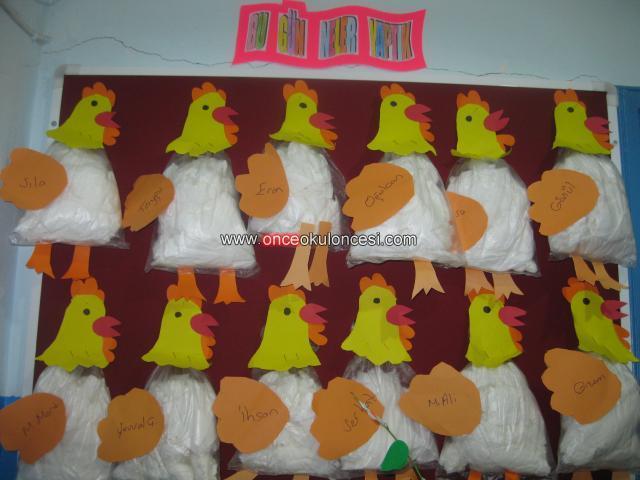 plastic bag hen