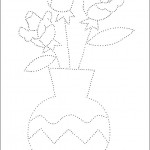 preschool_flower_dot_to_dot_activity_page_ worksheets