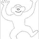 preschool_monkey_dot_to_dot_activity_page_ worksheets