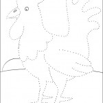 preschool_rooster_dot_to_dot_activity_page_ worksheets