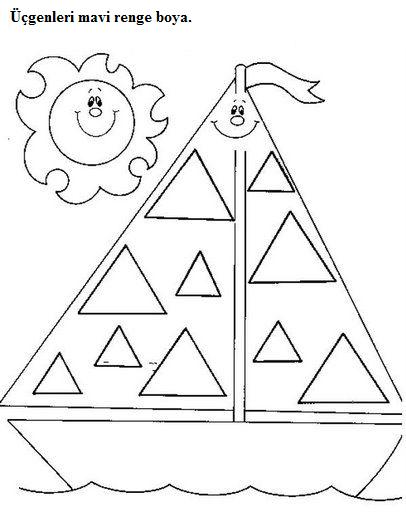 trace triangle worksheets | Crafts and Worksheets for ...