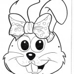 rabbit mask coloring page (1)