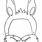 rabbit mask coloring page (2)
