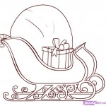 sled-coloring-page-free