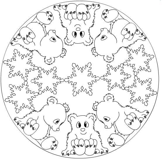 Snowflake Mandala Coloring Page 3 Crafts And Worksheets For