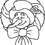 snowman wreath coloring