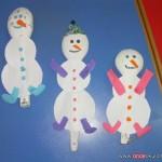 spoon snowman craft